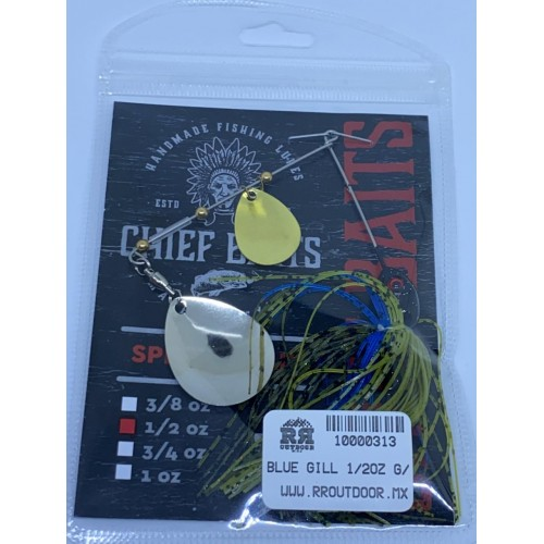 Chief Baits Spinnerbait 1/2oz Colorado Willow