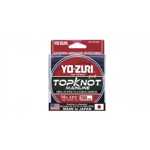 Topknot Main Line 200yd Yo-Zuri 100% Fluorocarbon Natural Clear